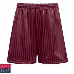 Maroon Shadow Stripe Shorts
