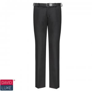 Boys Black Slim Fit Senior Trousers