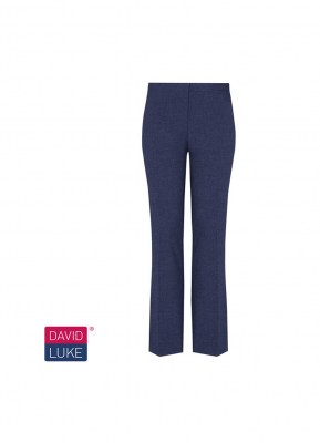 Girls Navy Slim Fit Senior Trousers
