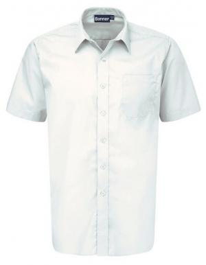 Girls White Button Up Short Sleeve Shirts