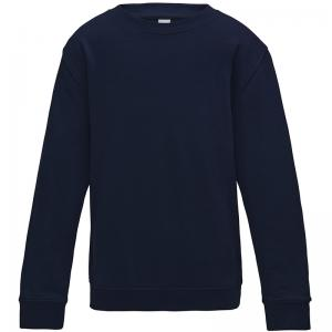 Navy Plain Crew Neck Sweatshirt