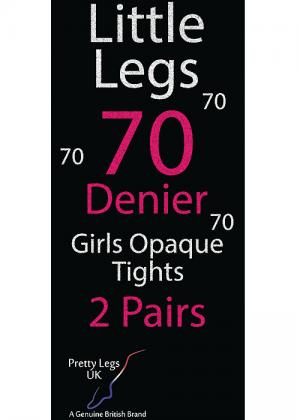 Pretty Legs Black Opaque 70 Denier