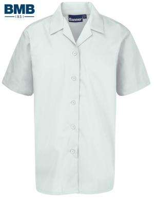 Girls White Revere Short Sleeve Shirts