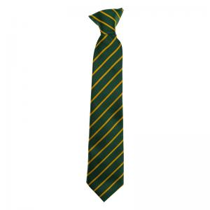 Green/Gold Clip on Tie