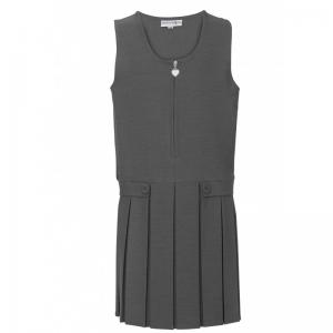 Innovation Button Flap Pinafore Grey