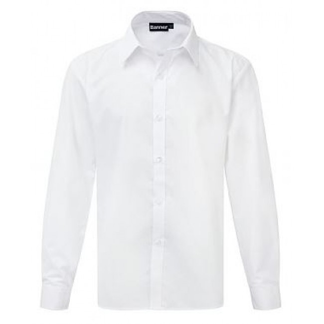 Girls White Button Up Long Sleeve Shirts