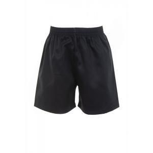 Black Cotton Shorts