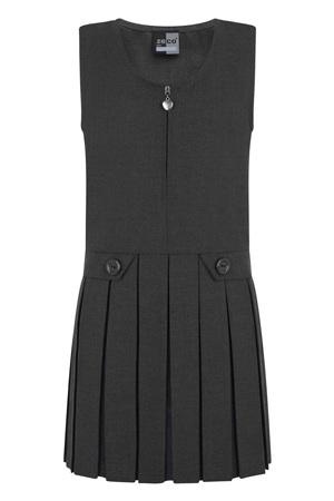 Zeco Zip Front Pinafore Grey