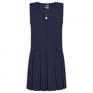 Zeco Zip Front Pinafore Navy