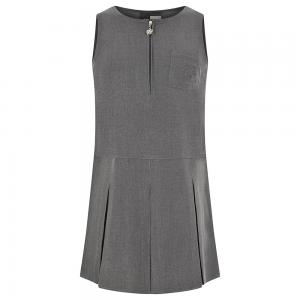 Zeco Flower Emb Pinafore Grey