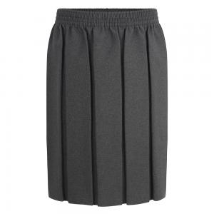 Zeco Box Pleat Skirt Grey
