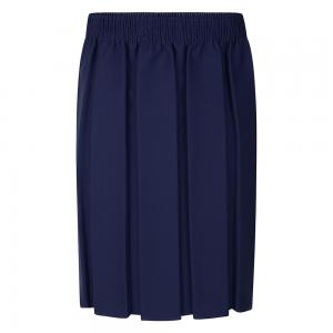 Zeco Box Pleat Skirt Navy