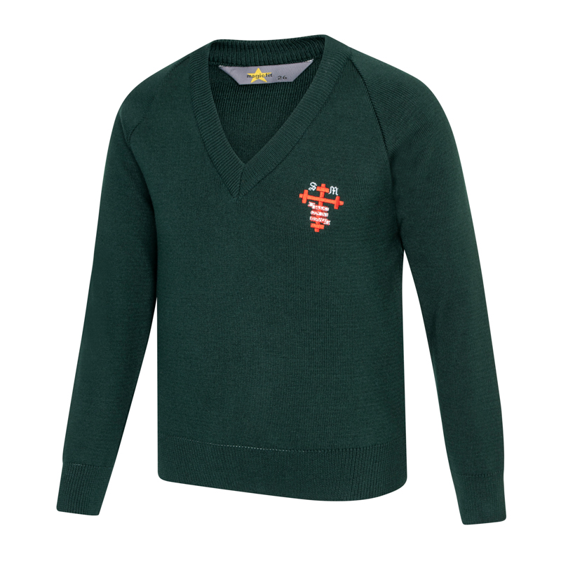 St Michael's V Neck Jumper